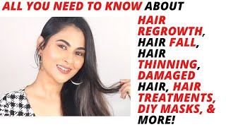 Hair Care Tips for Hair Regrowth, Hair Loss, Derma Roller, PRP for Hair Fall.Dry/Damaged Frizzy hair