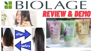 Biolage Deep Treatment Pack Review| Hair Care for dry, frizzy, damaged, colored hair, split ends.