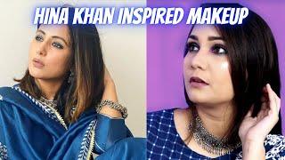 Hina Khan Inspired Makeup Using CuffsNLashes Makeup Brushes & New Affordable Makeup / Nidhi Katiyar
