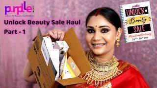 Purplle Haul + GIVEAWAY/ Unlock Beauty Sale Haul - Part - 1  / Nidhi Katiyar