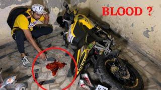 Someone Broke My Bike And Got Injured | *LIVE CCTV RECORDING*