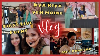 My first Live Event / First time did someone's makeup in public / Nidhi Katiyar
