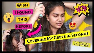 Covering my greys in Seconds !! No More Greys I Shake, Spray, Stay / Nidhi Katiyar