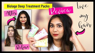 Biolage Deep Treatment Packs for Dry & Frizzy Hair - Review / My Experience / Nidhi Katiyar