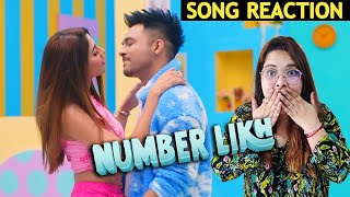 NUMBER LIKH - Tony Kakkar | Nikki Tamboli | Reaction