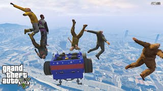 GTA 5 Funny Momnets Car Drop Test From Sky!! ???? ????