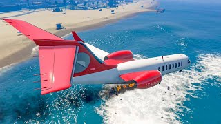 GTA 5 Epic And Terrible Plane Crash Compilation Part 1 (Euphoria Physics)