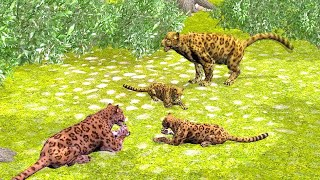 Learn Animal Names And Sound With Wild Animals Family For Kids And Pre Schoolers.