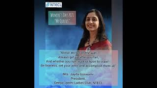NTECL celebrates International Woman's Day -2021