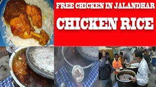 FREE CHICKEN RICE IN JALANDHAR | chicken rice served free in jalandhar city