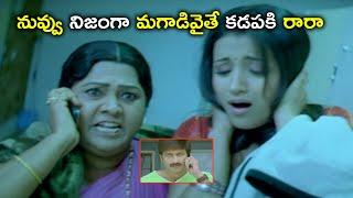 నువ్వు నిజంగా మగాడివైతే కడపకి రారా | Gopichand Trisha Telugu Movie Scenes | Sathyaraj