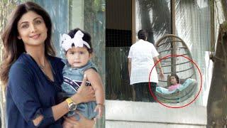 Super Dancer 4 Judge Shilpa Shetty Ki Cute Daughter Playing At Home