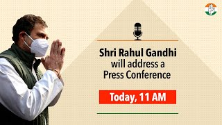 Shri Rahul Gandhi interacts with members of the Press