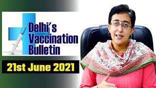 Delhi's Vaccination Bulletin 43 - 21st June 2021 - By AAP Leader Atishi #VaccinationInDelhi