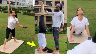 Ankita Lokhande Doing yoga & Workout For Pavitra Rishta 2.0   Sushant Singh Rajput   Manav & Archana