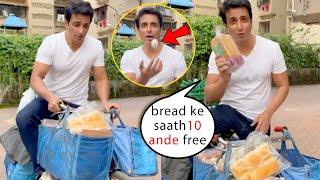 ???? Sonu Sood Started Free Home Delivery in Mumbai Ek Bread ke Sath 10 Eggs Free ???????? #supermarket