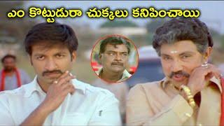 ఎం కొట్టుడురా చుక్కలు కనిపించాయి | Gopichand Trisha Telugu Movie Scenes | Sathyaraj