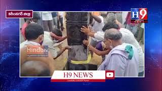 ధ్వజస్తంభం  ప్రతిష్టాపన కార్యక్రమం//H9NEWS