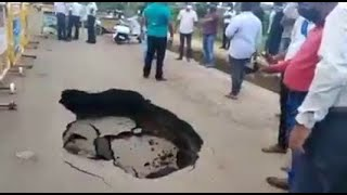 'Hole' in the road: Complaint lodged against contractor