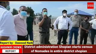 District administration Shopian starts census of Nomades in entire district shopian