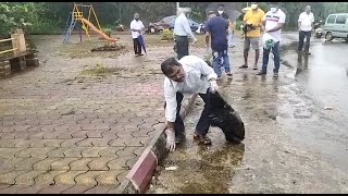 Senior citizens take up cleanliness drive in Sanvordem. Do you think youth should also come forward?