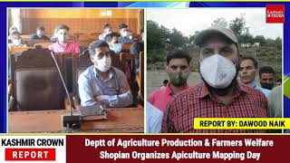 Deptt of Agriculture Production & Farmers Welfare Shopian Organizes Apiculture Mapping Day