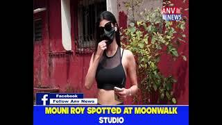MOUNI ROY SPOTTED AT MOONWALK STUDIO