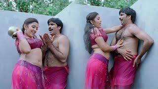 Krack Malayalam Movie Scenes | Charmee Enters Into Ravi Teja Bathroom | Daisy Bopanna