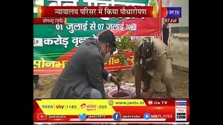 Sonbhadra (UP) News |  न्यायालय परिसर में किया  पौधरोपण,पौधे लगाकर ली पर्यावरण बचाने की शपथ | JAN TV