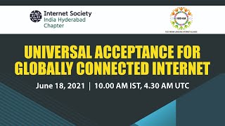 Workshop on Universal Acceptance for Globally Connected Internet