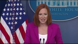 White House Holds Press Briefing Jen Psaki  press briefing