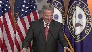 House Minority Leader Kevin McCarthy holds his weekly press briefing.