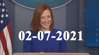 White House press secretary Jen Psaki holds a briefing..