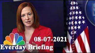 White House press secretary Jen Psaki holds a briefing. 07-08-2021