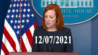 White House press secretary Jen Psaki holds a briefing. 12-07-2021