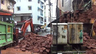 Old building collapsed in Panjim due to heavy rain