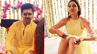 Disha Aur Rahul Vaidya Ki HALDI CEREMONY | Rahul-Disha Wedding