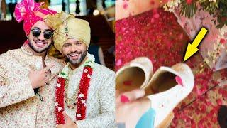Jigri Dost Aly Goni Ne Sambhale Rahul Vaidya Ke Joote | Rahul Vaidya - Disha Parmar Wedding