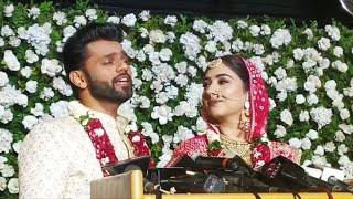 Rahul Vaidya Sings YAAD TERI Song For Disha   Rahul Disha Married