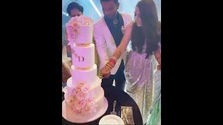 Rahul Vaidya Aur Disha Cake Cutting | Rahul Aur Disha Ka Wedding Reception
