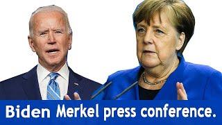 President Joe Biden and German Chancellor Angela Merkel hold a joint press conference.
