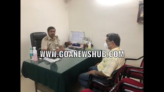 AAP Convener Rahul Mhambre questioned by Maina Curtorim police