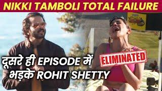 Khatron Ke Khiladi 11 | Nikki Tamboli Eliminated, Rohit Shetty Ke Sath Janta Bhi Bhadki