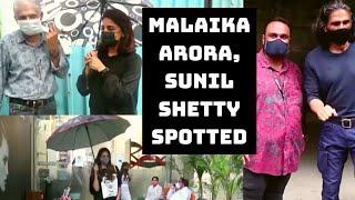 Malaika Arora, Sunil Shetty Spotted In Mumbai   Catch News