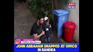 JOHN ABRAHAM SNAPPED AT OFFICE IN BANDRA