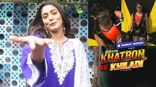 Khatron Ke Khiladi 11 Me Record Breaking Stunt Par Sana Makbul Ka Reaction