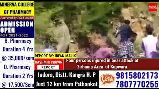 Four persons injured in bear attack at Zirhama Area of Kupwara