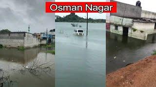 Osman Nagar Hua Osman Sagar Mein Tabdeel   Shaher Mein Lagatar Baarish   SACH NEWS  