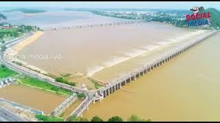 Krishna River Prakasam Barrage   social media live