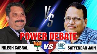 Electricity Debate on Goa Politics | AAP Leader Satyendar Jain Vs BJP Leader Nilesh Cabral